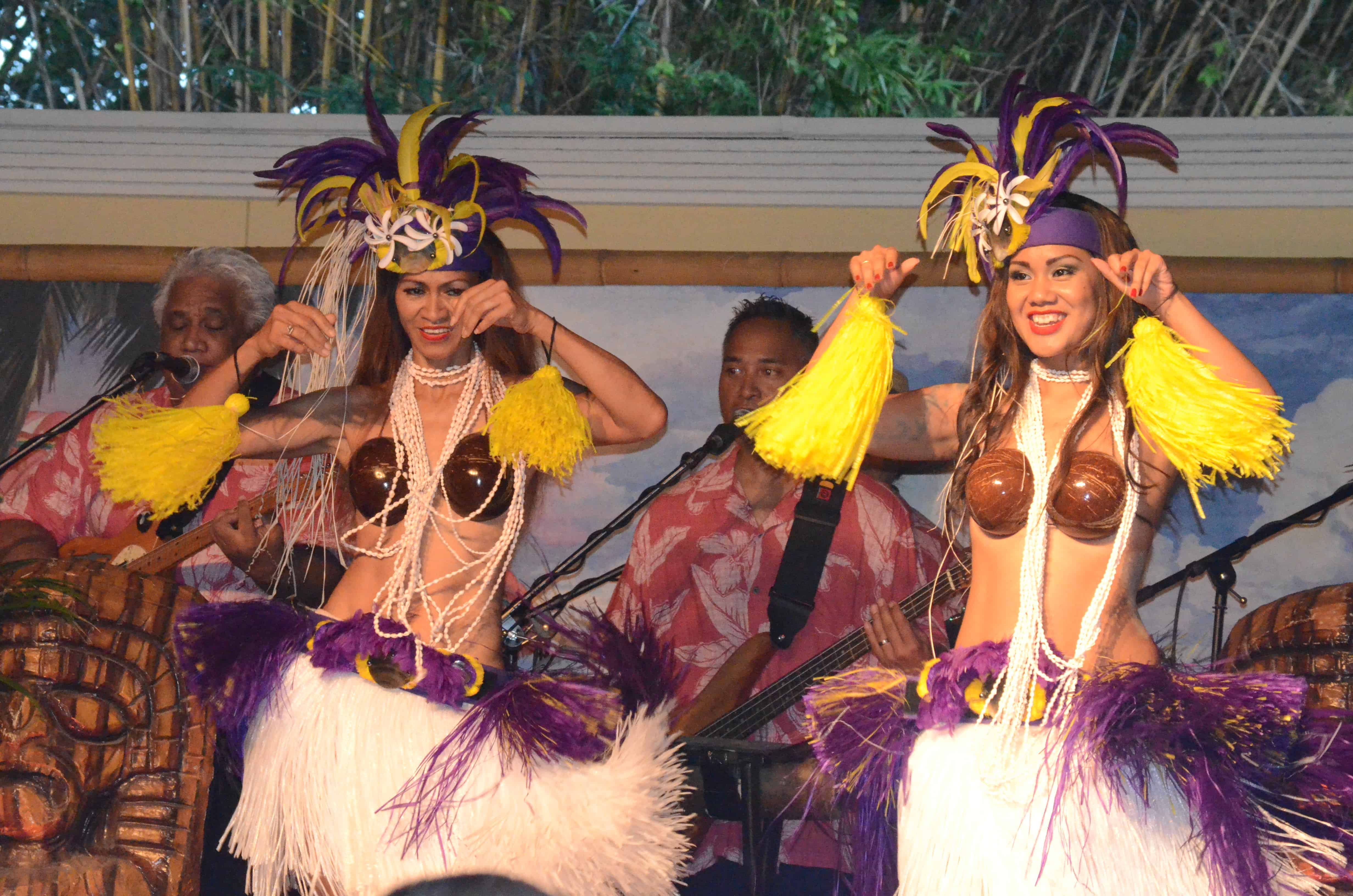 Luau girls at the Royal Pacific Hotel