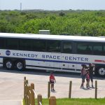 Tour bus at the Kennedy Space Center