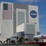 Giant NASA building at the Kennedy Space Center