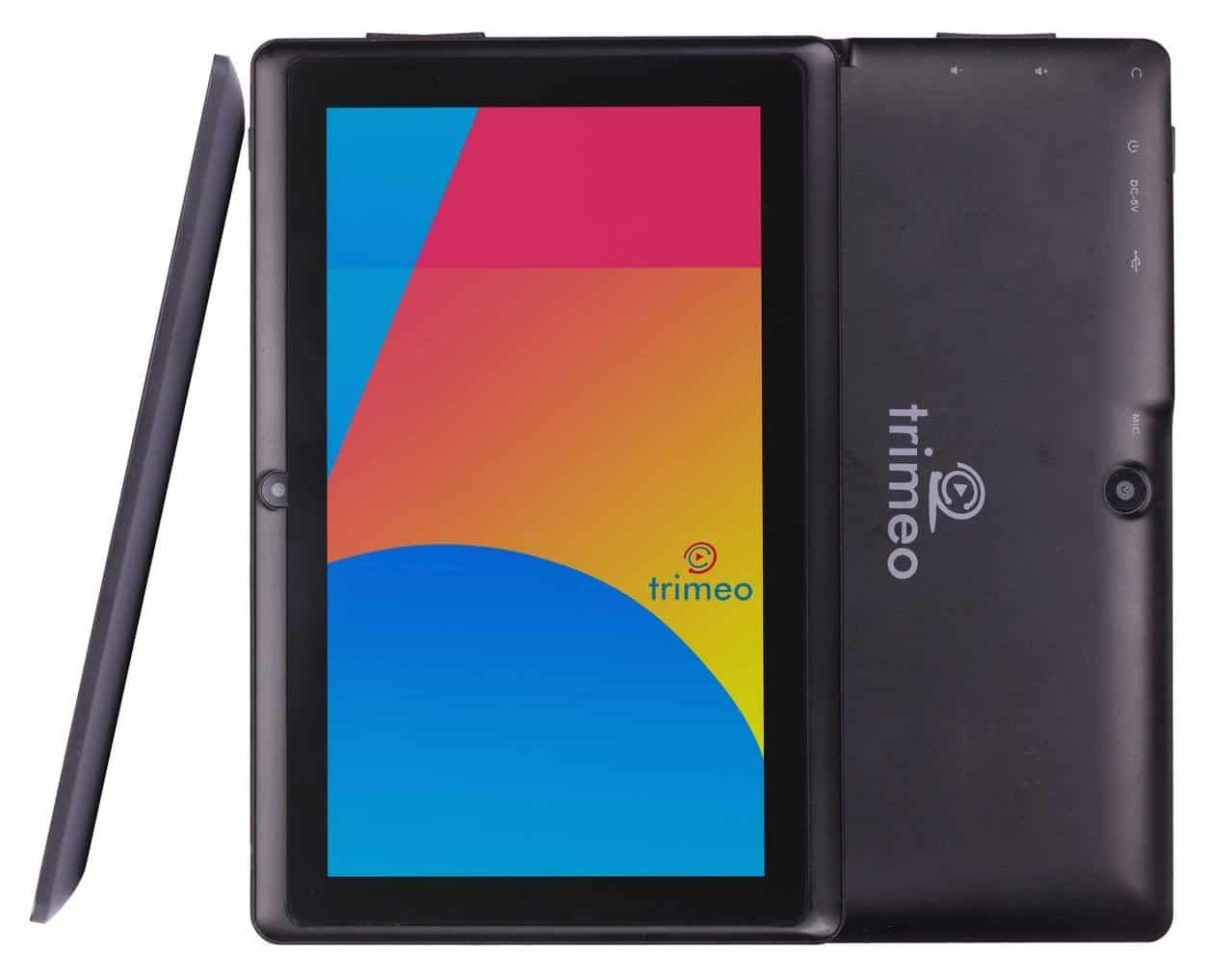 Trimeo Black Quad Core Android Tablet