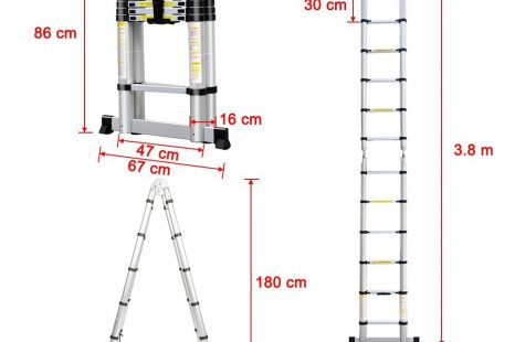 Finether DIY 3.8M Portable Extendable Ladder Review
