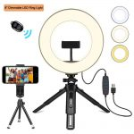 "Creatck 8"" LED Ring Light with Tripod Stand"
