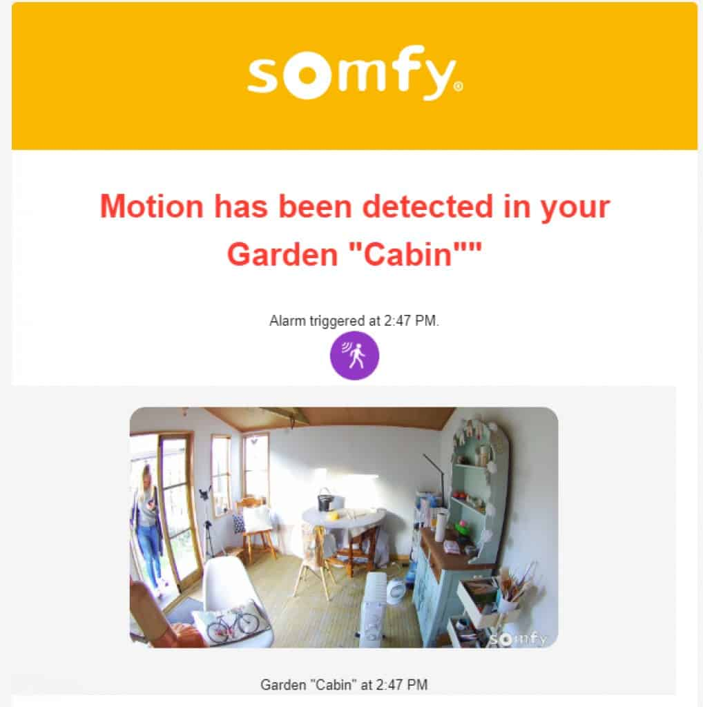 Somfy Protect Example Alert