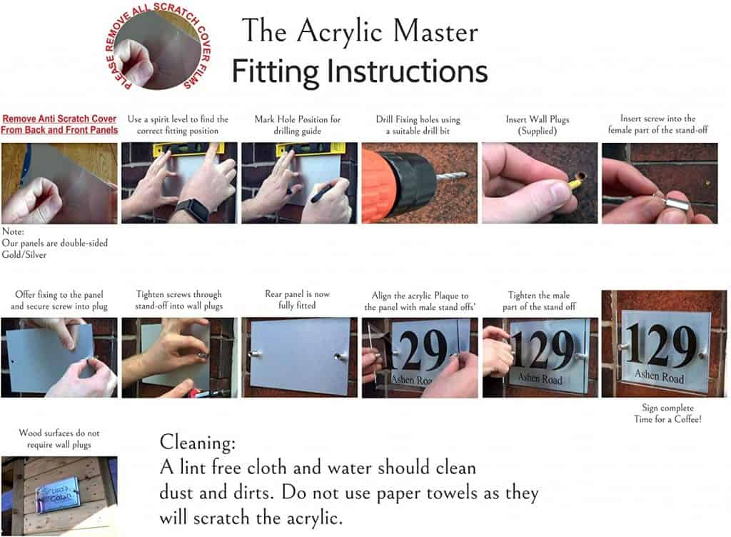 Acrylic Master Fitting Instructions